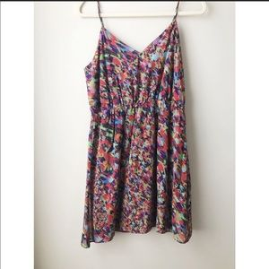 Madewell silk colorful dress
